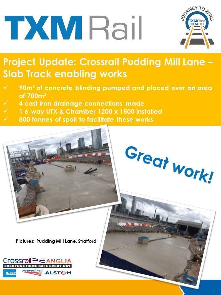 #TeamTXM Rail have been working hard down at Pudding Mill Lane... #Rail #Engineering #Yellowkit https://t.co/90dUycv71M