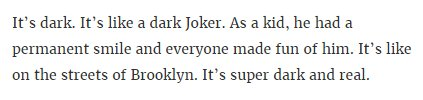 this rumor about the Joker movie made me yawn so hard my face froze and now i'm a supervillain called The Yawner. https://t.co/MOxXZvTQti