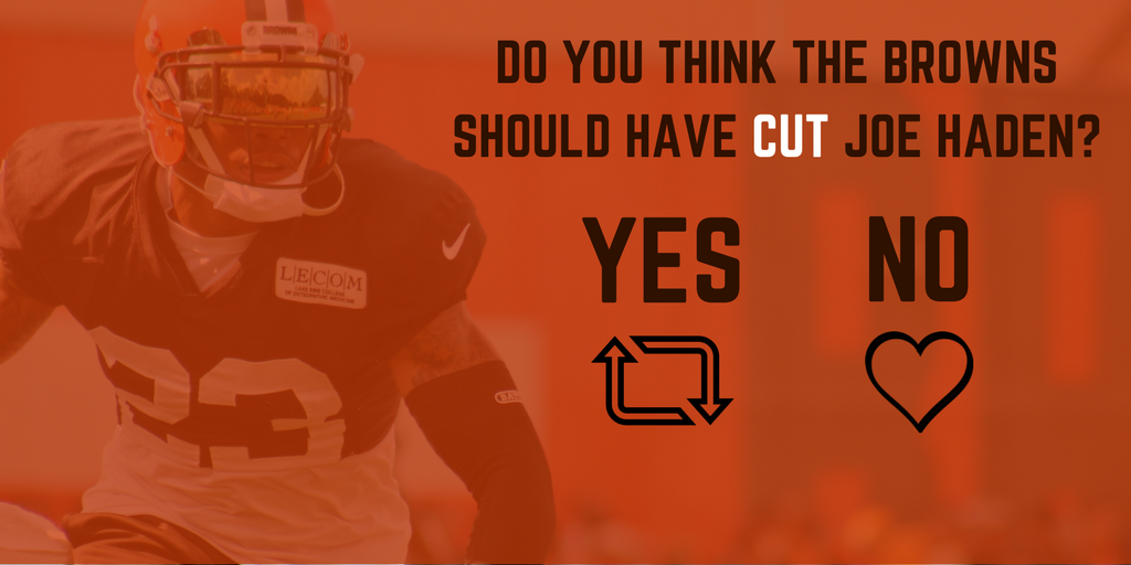 Do you agree with the #Browns decision to cut Joe Haden?  RT if yes. Like if no.