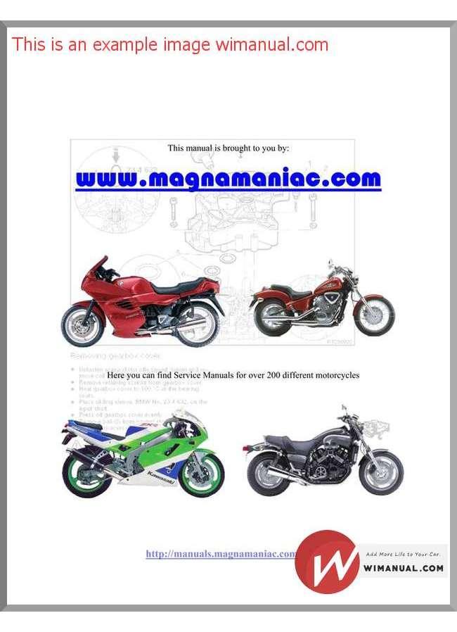 Kawasaki kx250f service Manual