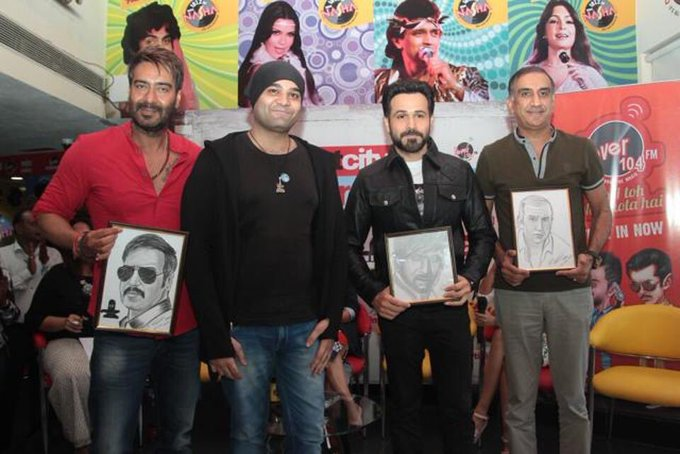 This talented fan from Delhi made these wonderful sketches of @ajaydevgn @emraanhashmi and myself. Thank you 😊 https://t.co/oOXtrDRuD1