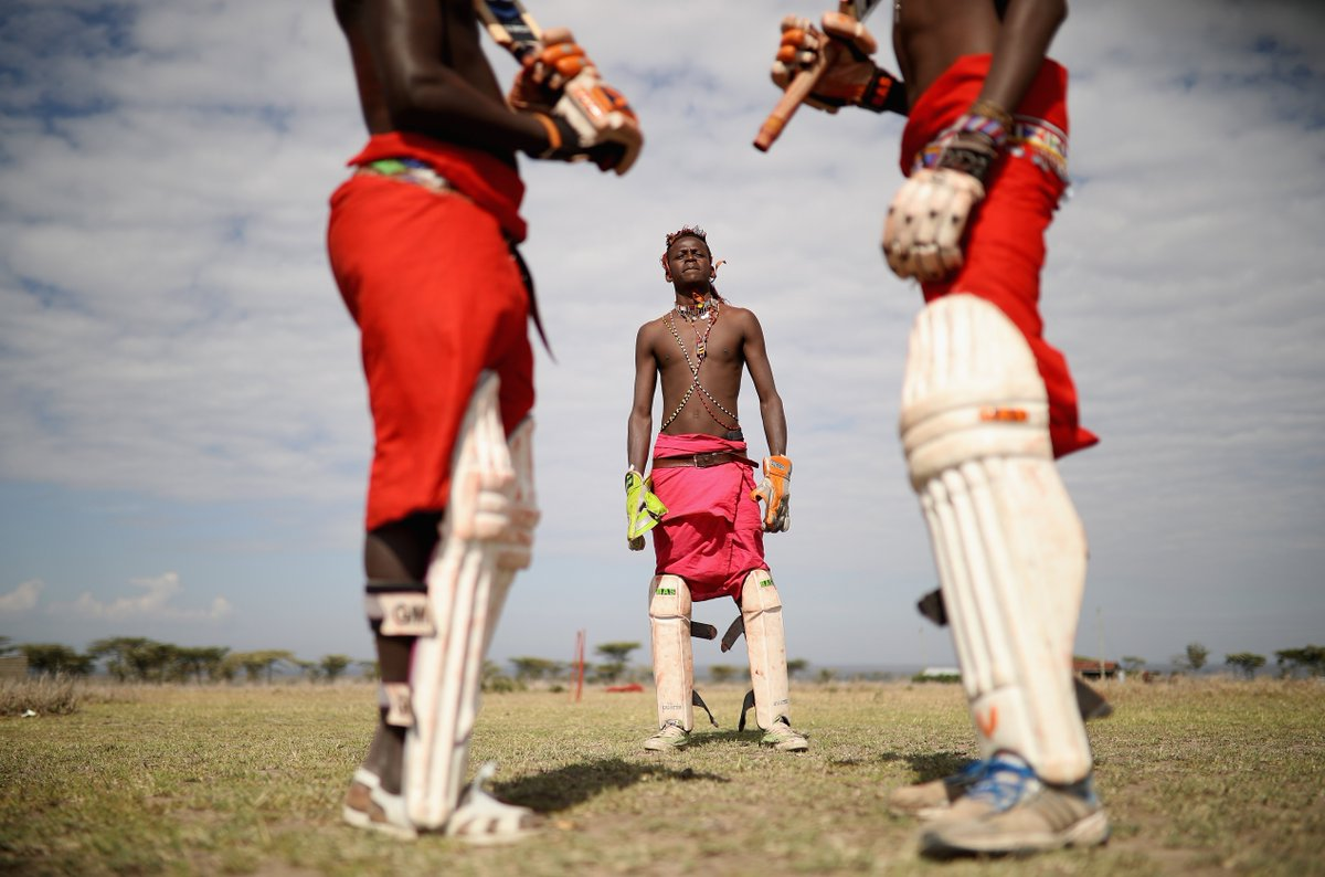 Stunning photos of the Maasai Cricket Warriors of Laikipia, Kenya 🇰🇪