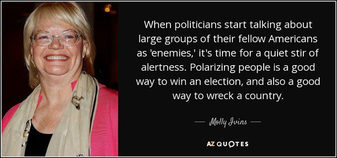We miss you Molly Ivins! We need you now! Happy Birthday!