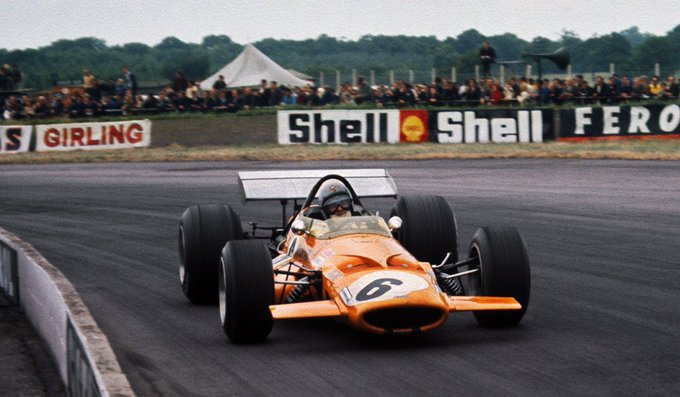 - Happy Birthday Bruce McLaren! McLaren-Ford M7C, 1969 British GP, Silverstone