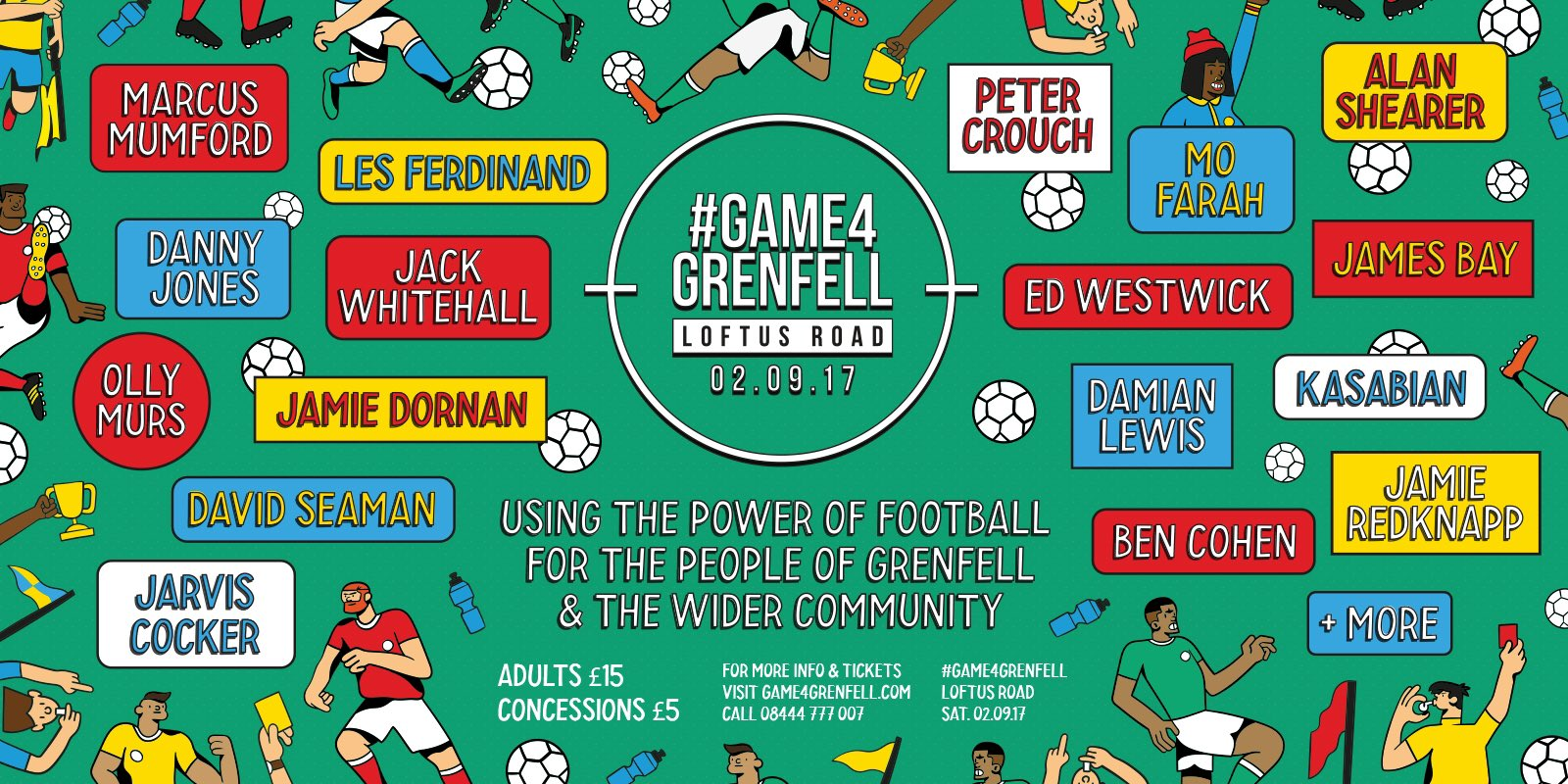 RT @QPRFC: 💚 This lot have signed up for a #Game4Grenfell. Have you?  Get your ticket from https://t.co/VDjHyW54SN! https://t.co/XgE5M8WFEr