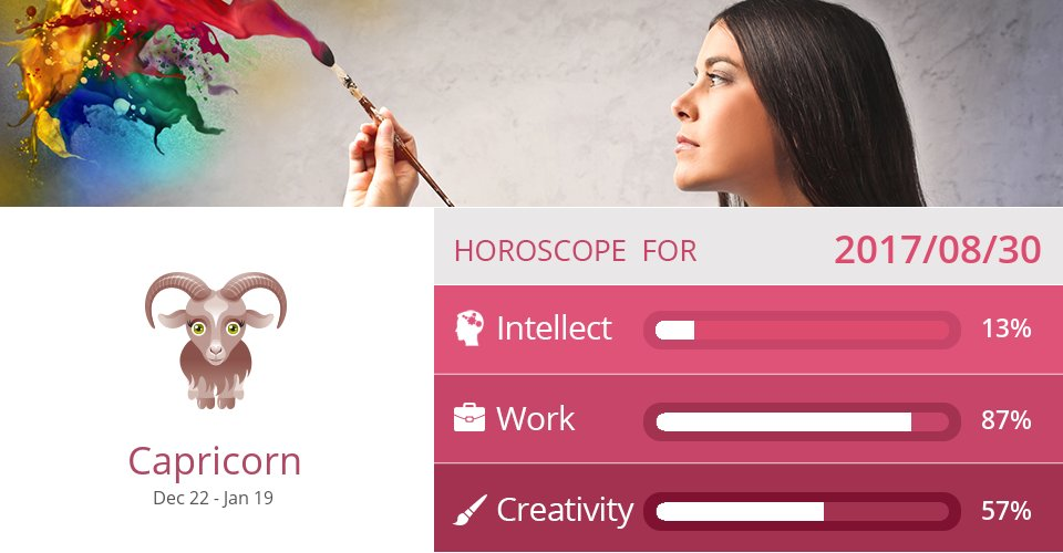 Aug 30, 2017: Work & Creativity => See more: https://t.co/CiJVVVS19y Accurate? Like = Yes #Capricorn #Horoscope https://t.co/cexHtB42A1