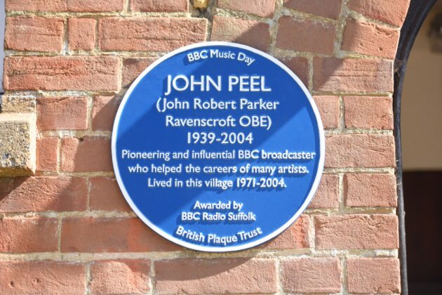 Many remembering & paying respects to John today. Here is the plaque we put up in june. #BBCMusicDay https://t.co/VtkX9N7qQc