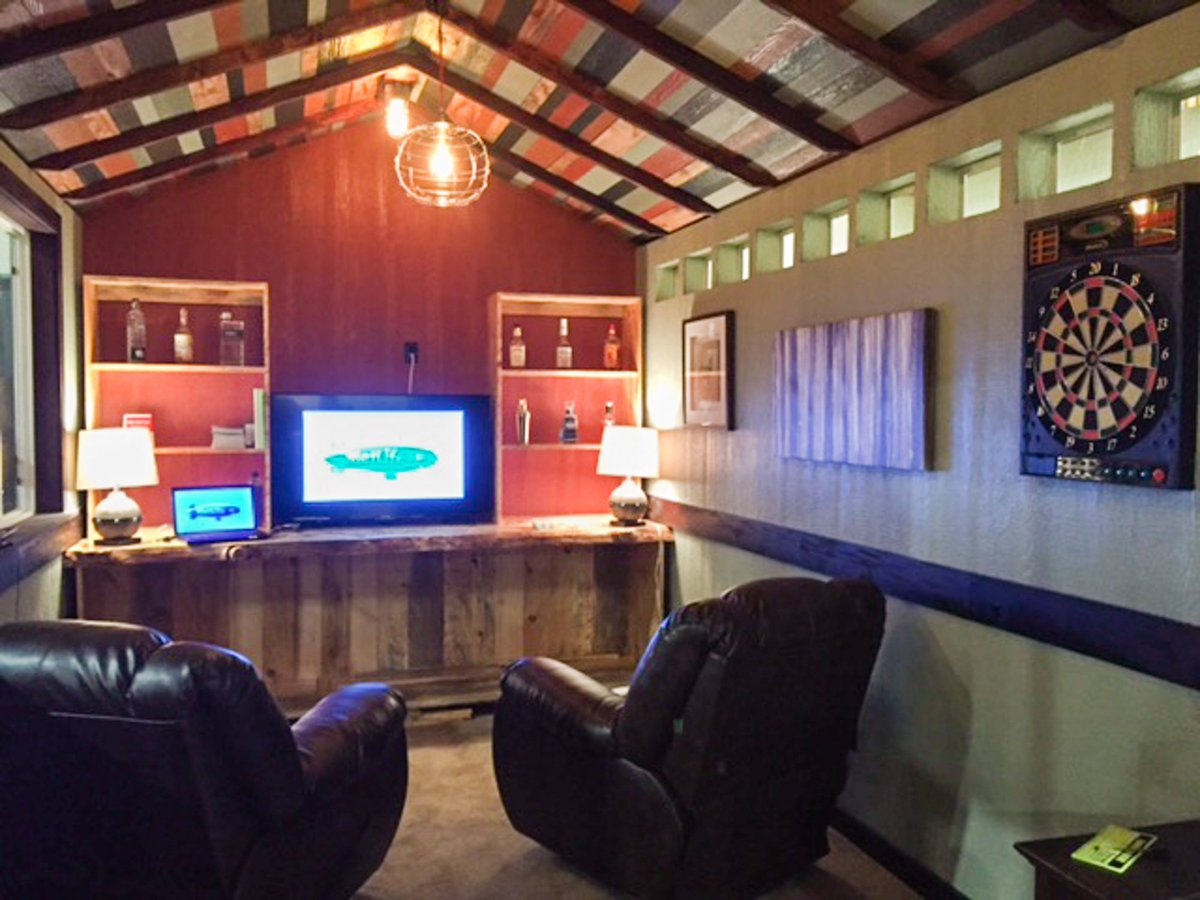 Tuff Shed On Twitter How Would You Finish Out The Interior Of Your Man Cave Or She Shed