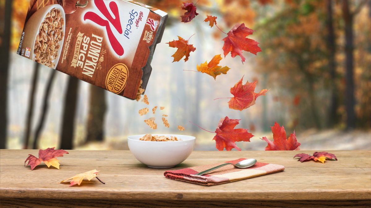 Our new Pumpkin Spice Crunch Cereal – it's limited edition, not basic. #OwnIt #Fall #PumpkinSpice