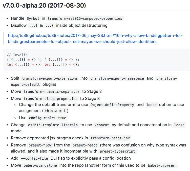 Henry Zhu On Twitter Released V7 Alpha20 Of Babeljs Promise It