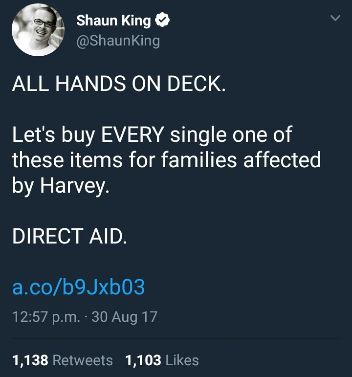 Reminder that no one knows what happened to the money Shaun King collected for Haiti. Don't let him do it again. https://t.co/5MDF9WMOc7