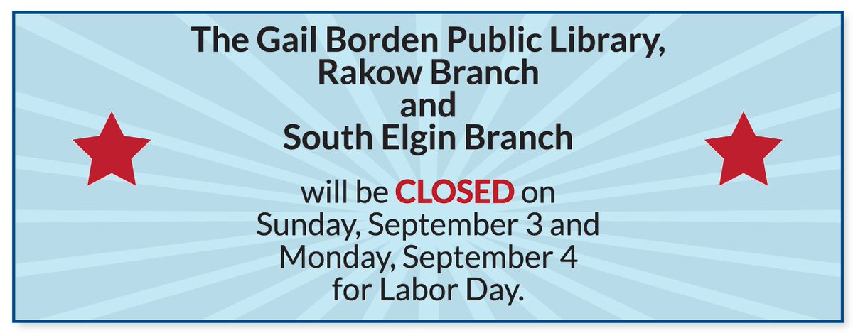 We will be closed tomorrow 9/3 and Monday 9/4 for #LaborDay. Access our #eLibrary here:  http:// bit.ly/gbelibrary  &nbsp;  .<br>http://pic.twitter.com/RwaC04Wrzs