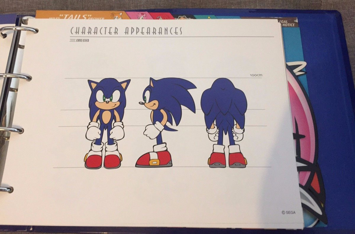 Patmac On Twitter Images Of An Internal Sonic Adventure Era Style Guide That Was Recently Up For Auction On Ebay Uk