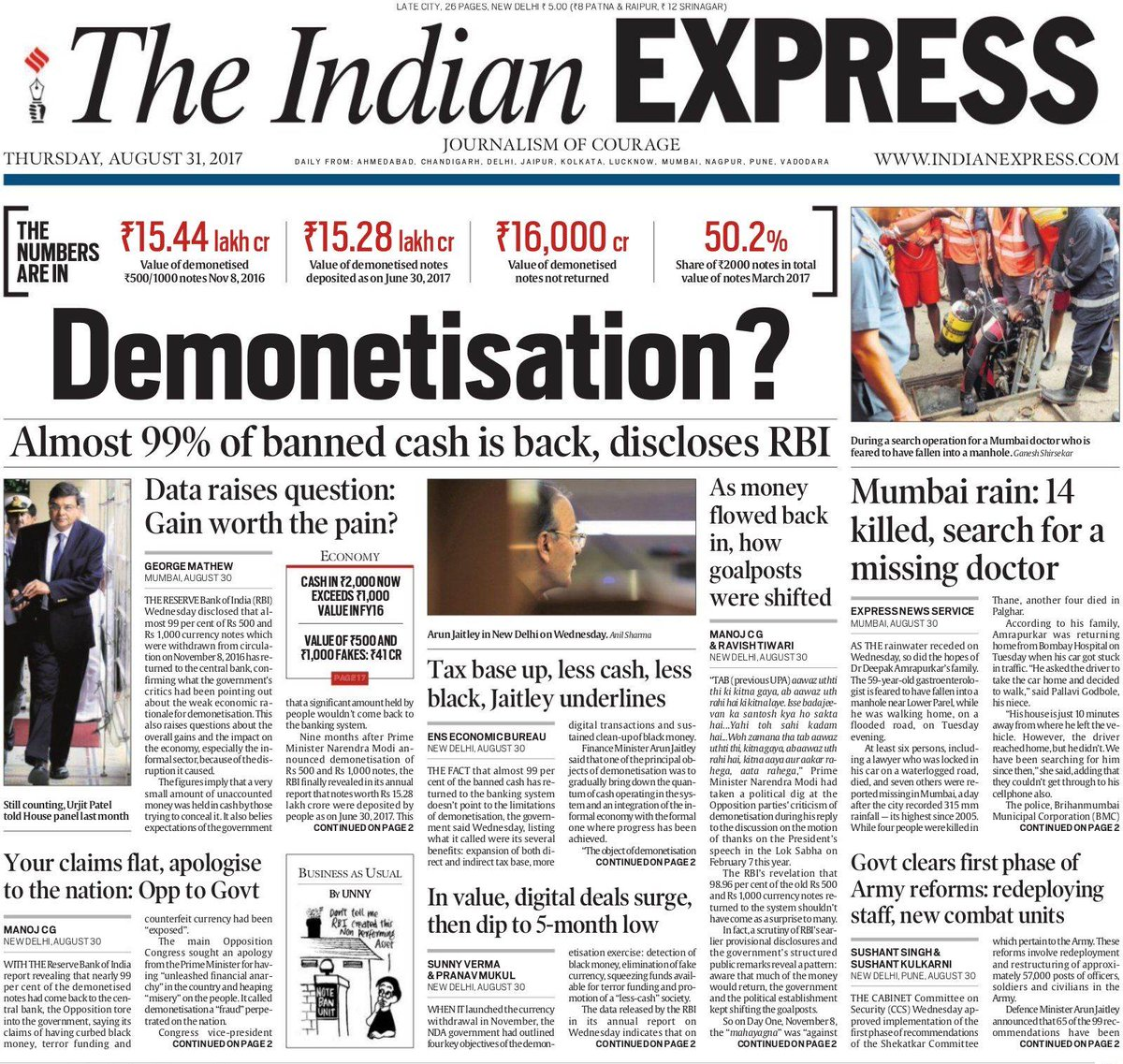 #Thread   Our coverage of the #Demonetisation data released by @RBI https://t.co/L0D3LFKXly