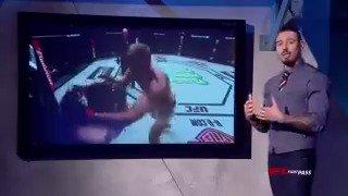 Two giants go head to head at #UFCRotterdam! @DanHardyMMA looks at @AlexDragoVolkov ⬇️  📽 http://bit.ly/2iDE940