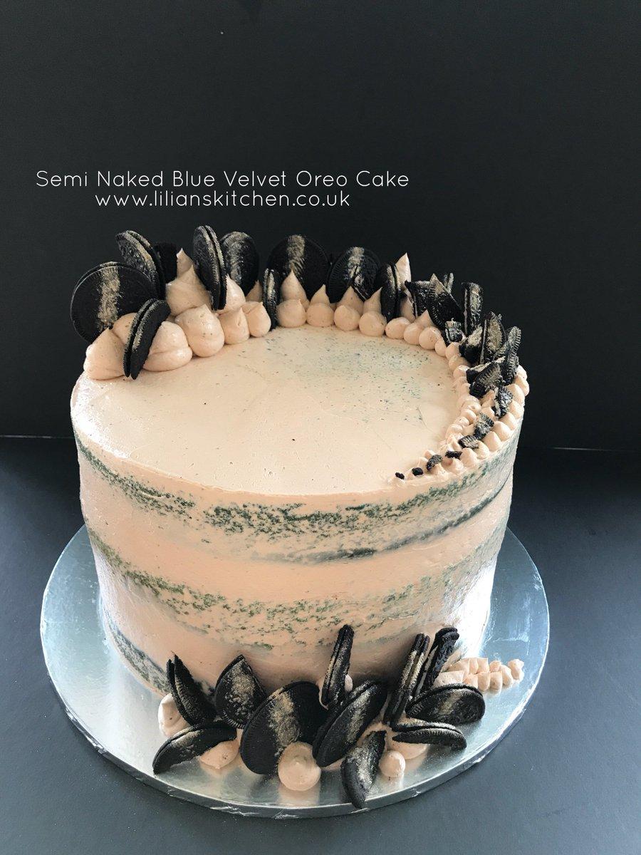 Lilian Hiw on Twitter Semi Naked Blue Velvet Oreo Cake oreo
