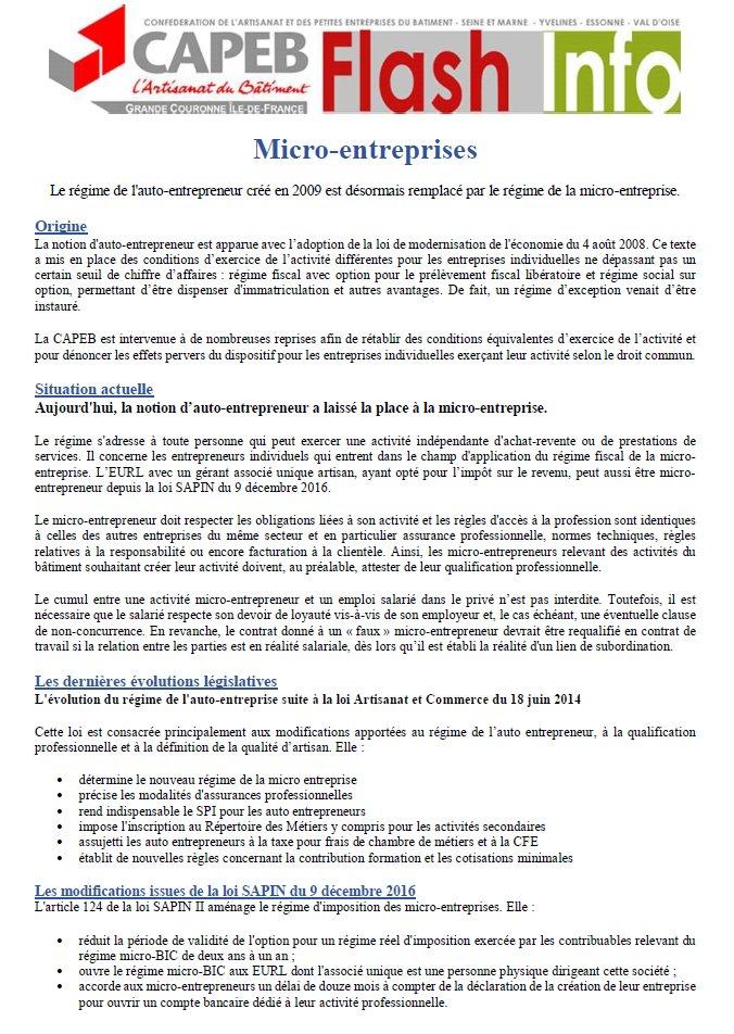 Capeb Gc Idf On Twitter Le Regime De L Auto Entrepreneur