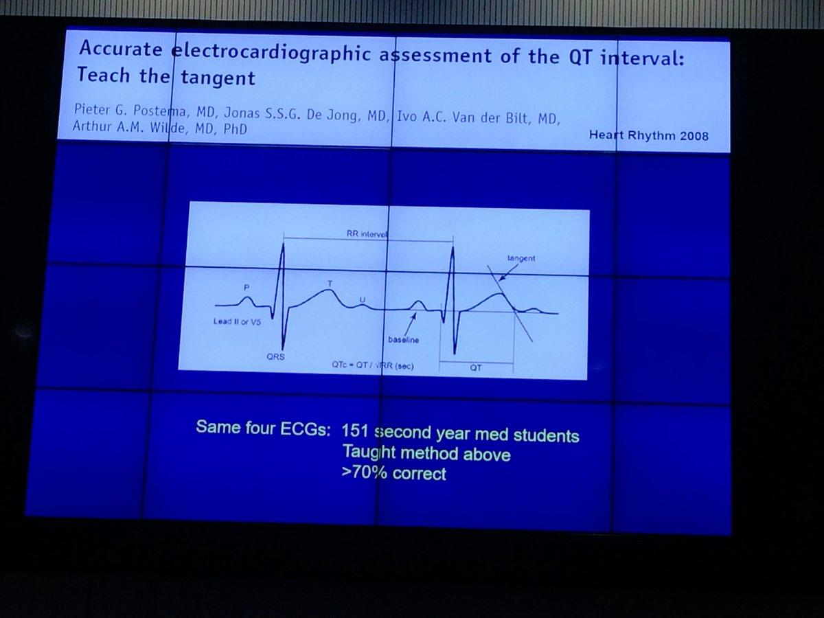 ¿Cómo evaluar QT correctamente?Necesario xq la mayoría de cardiólogos clínicos fallamos #cardiologiadeportiva @secardiologia