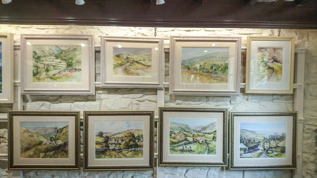 Our feature wall is now focused on John Sibson&#39;s watercolours, incl. 3 new original Muker scenes. Perfect timing for Wednesday&#39;s #mukershow <br>http://pic.twitter.com/Ac5UV1WwrF