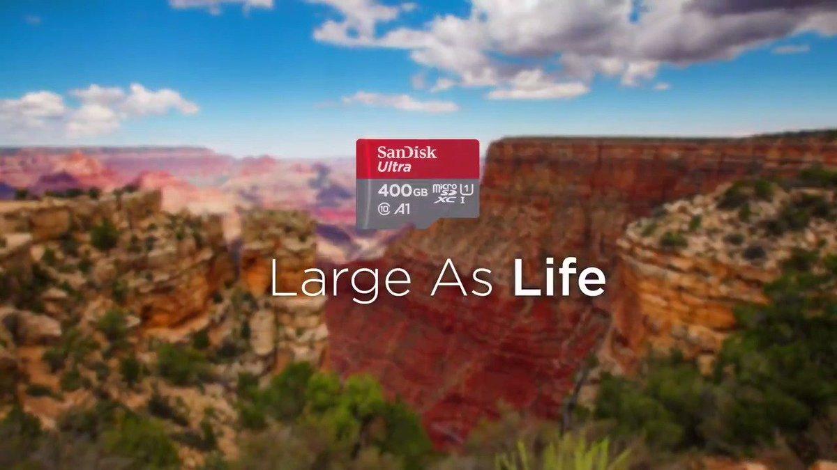 Meet the world's highest capacity microSD card, our 400GB Ultra microSD UHS-I card! #LargeAsLife https://t.co/c9hEKpyBaM