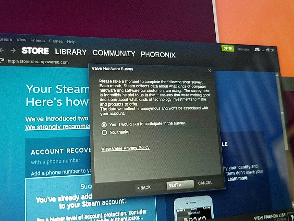 El uso de Steam en GNU/Linux disminuye agosto