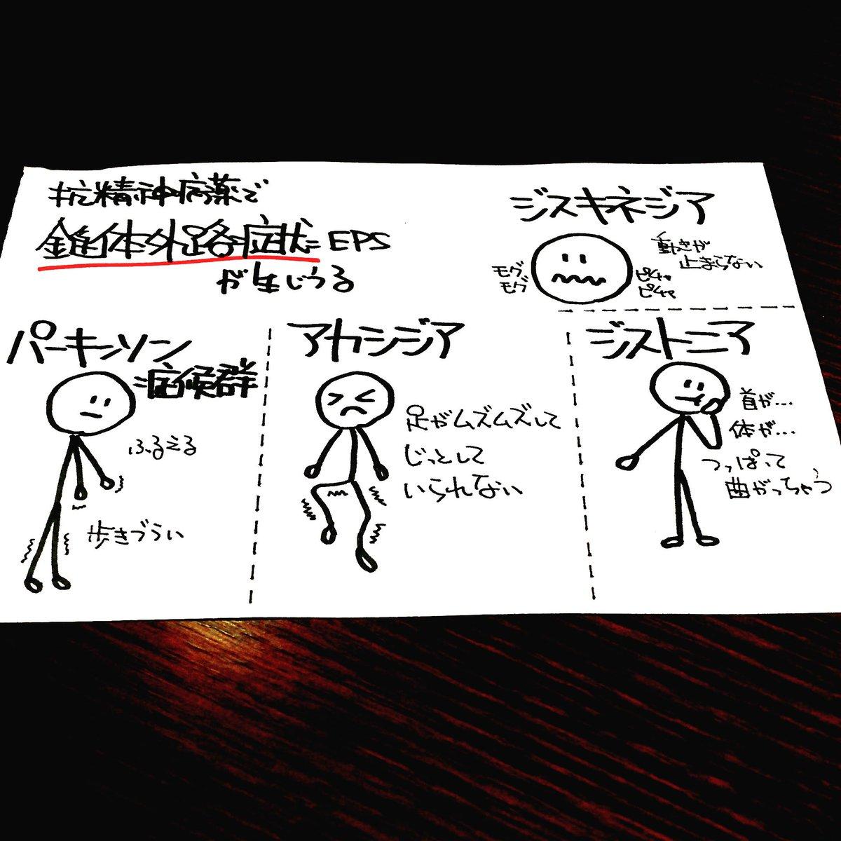 "টুইটারে 精神科医 ぷしこノート: ""抗精神病薬の副作用のひとつ ..."