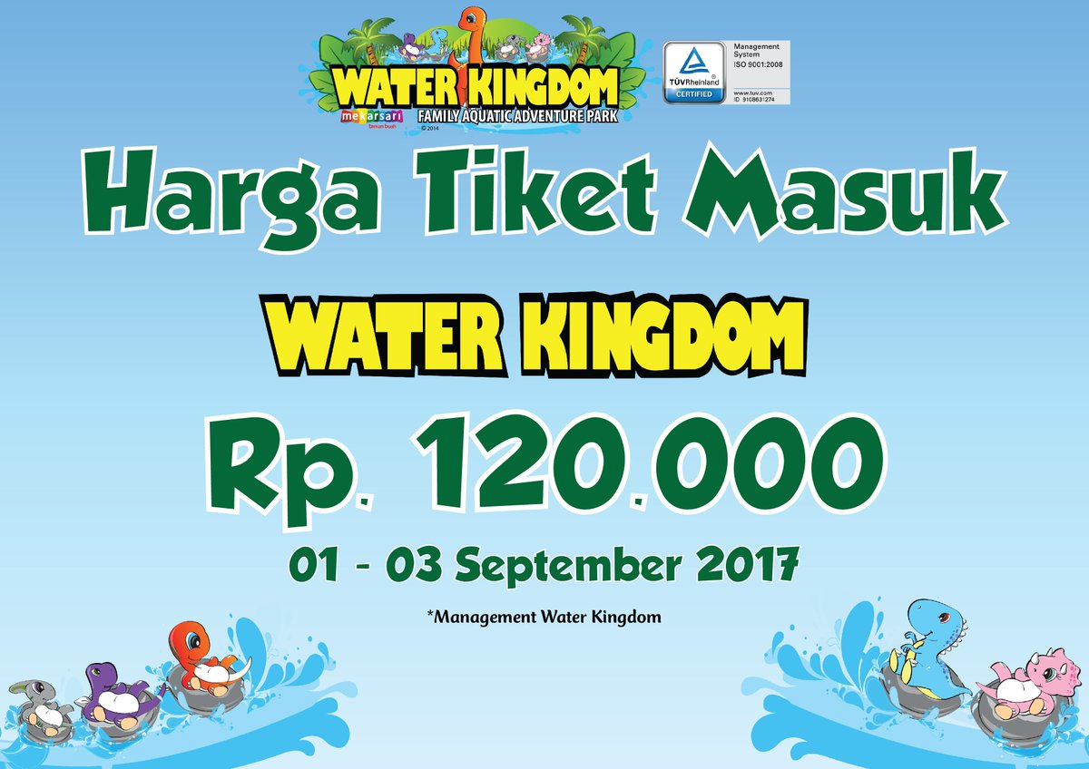 Water Kingdom Mywaterkingdom Twitter Voucher Tiket Masuk Waterkingdom Mekarsari Cileungsi 2 Replies 0 Retweets 1 Like