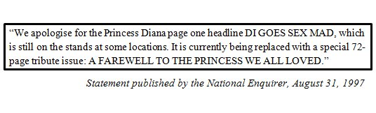 20 years since the National Enquirer published this incredible apology. #Diana20 https://t.co/YdkW82HMWX
