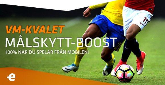 Spela på Målskytt i Sverige-matcherna och få dina vinster bostade! 100 % boost om du spelar från mobilen, anmäl dig: https://t.co/QI2Tr6wWQZ https://t.co/LBJMSlulB6