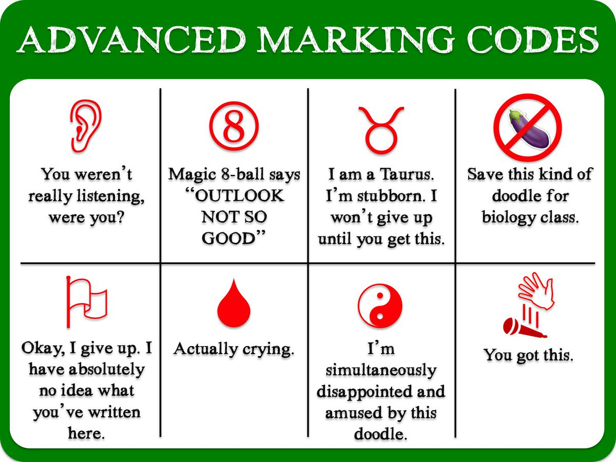 Advanced marking codes https://t.co/z55V4Jhysb