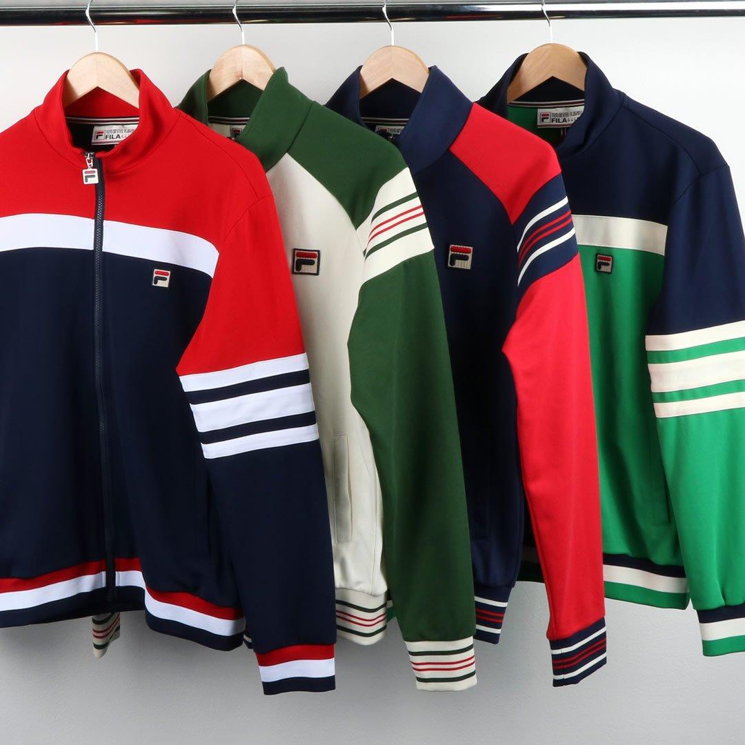 fresh styles across Fila track tops