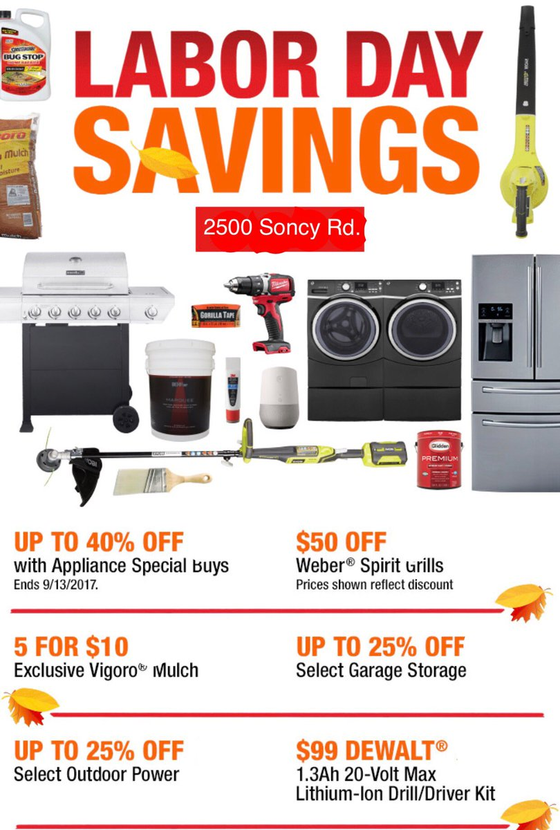 Home Depot Amarillo On Twitter Our Labor Day Savings Event