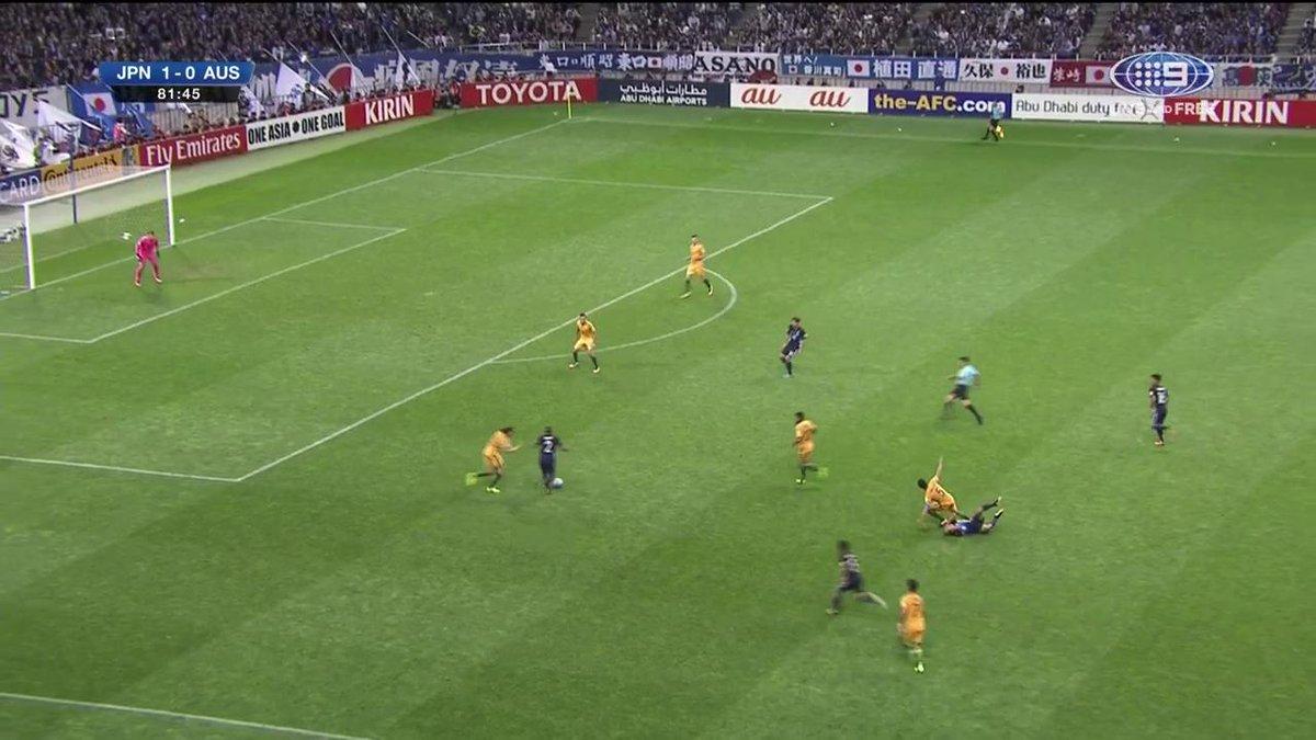 GOAL Japan! JPN 2- 0 AUS 82' An aboslute ripper of a shot falls through. #9WWOS #JPNvAUS https://t.co/lkpE8pnOq1