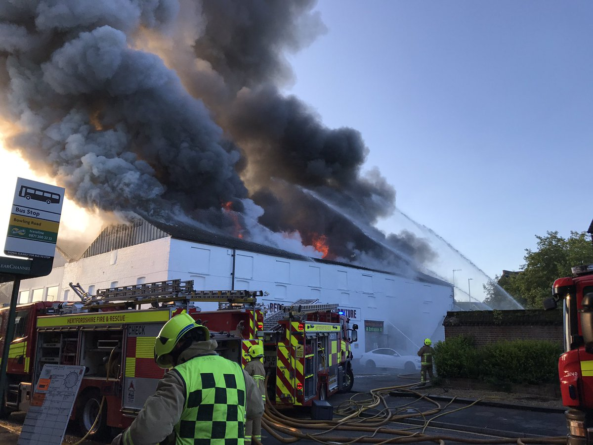 Fire Fighters called to a Fire goes tghrough the roof