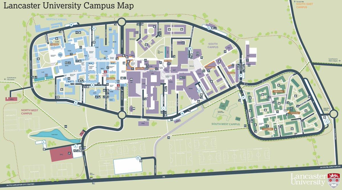 Lancaster Campus Map Lancaster Management on Twitter: