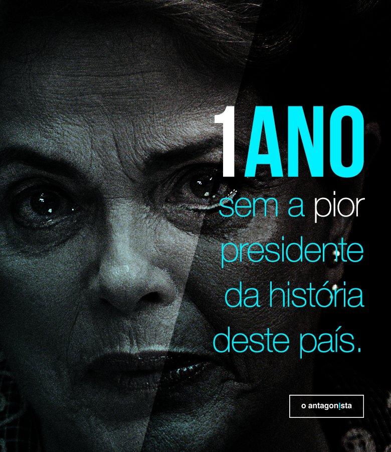 * 31.08.16 * Relembre, comemore: 1 ano sem Dilma > https://t.co/Ay4UKvM3Fr