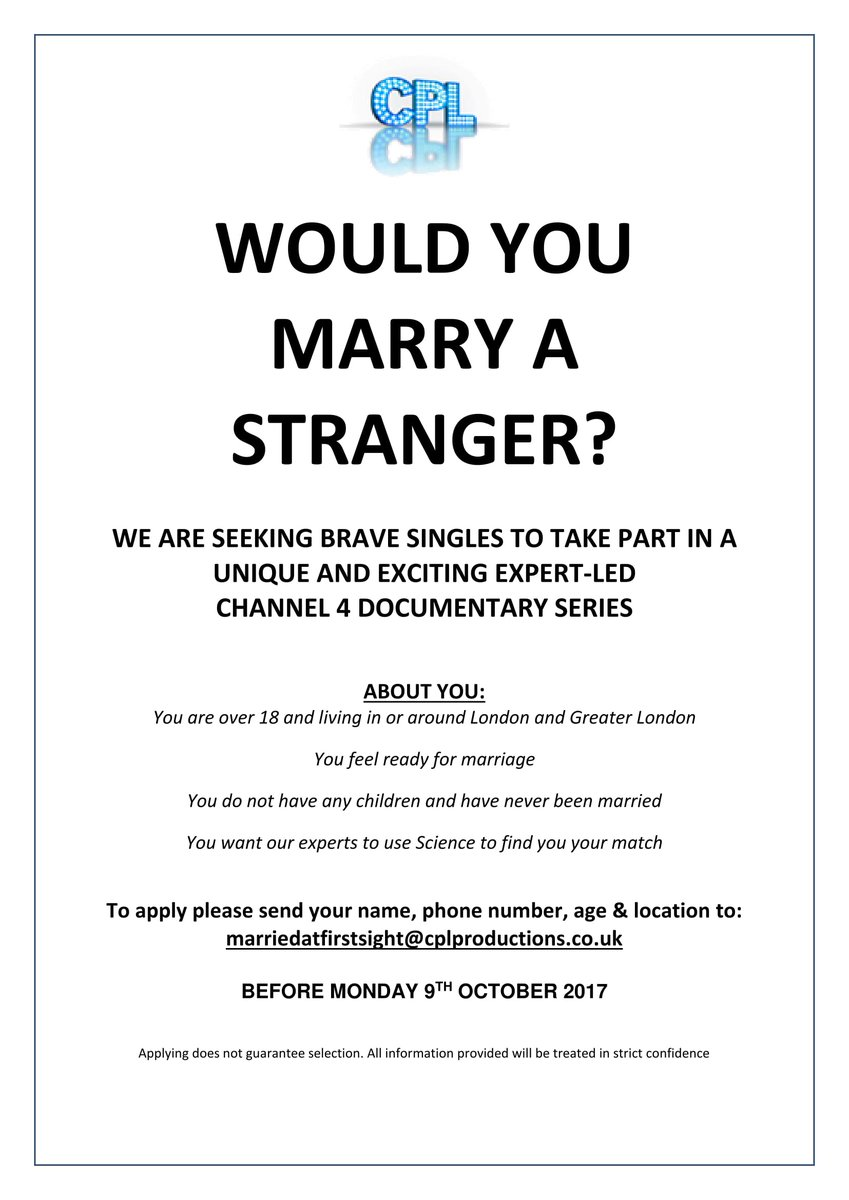 Looking for marriage