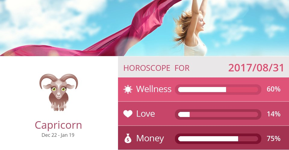 Aug 31, 2017: Wellness, Love & Money => See more: https://t.co/CiJVVVS19y Accurate? Like = Yes #Capricorn #Horoscope https://t.co/sFBmQ7gBhd