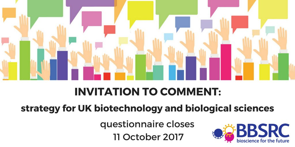 Comments welcome on the future strategy for UK biotechnology and biological sciences https://t.co/5caU35cL2E https://t.co/dYl2HarqzV