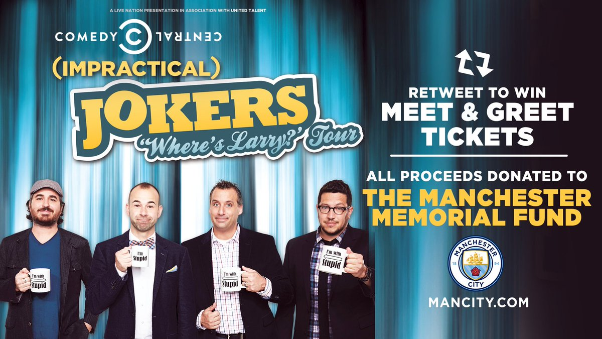 The tenderloins on twitter join us for the impractical jokers the tenderloins on twitter join us for the impractical jokers wheres larry tour in manchester on oct 5th rt to win meet greet tickets m4hsunfo