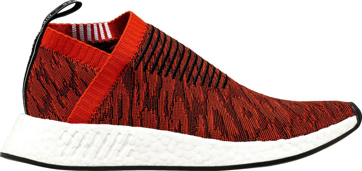 nmd cs2 primeknit mens running shoes red rust black free shipping 50739911b