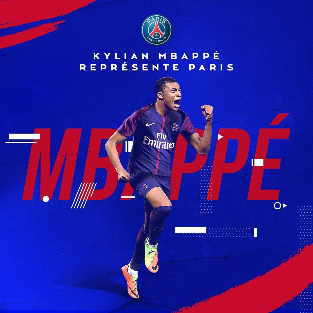 Le Paris Saint-Germain est heureux d'annoncer la signature de Kylian Mbappé ! 👊 #BienvenueKylian