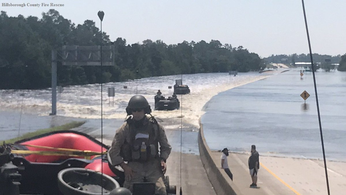 "NBC Nightly News on Twitter: ""I-96 near Lumberton, TX, as members of Hillsborough Co. Fire Dept. team and US Marine Corps. amphibious unit search for flood ..."