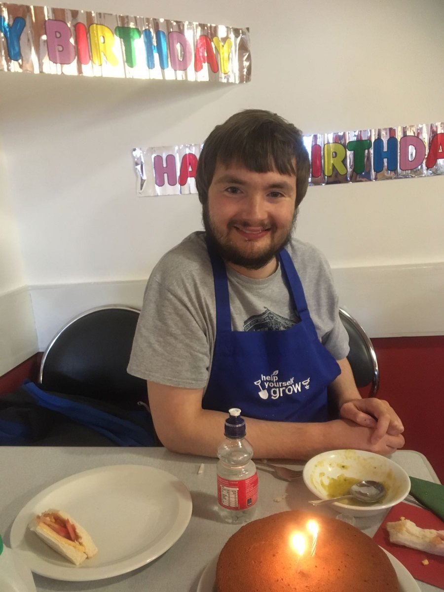 Happy Birthday to Jethrow our HYG Cookery Trainee. Also to the trainees for baking the yummy cake. Well Done! #HappyBirthday #HYG #Cooking<br>http://pic.twitter.com/dPCnyR7e9o