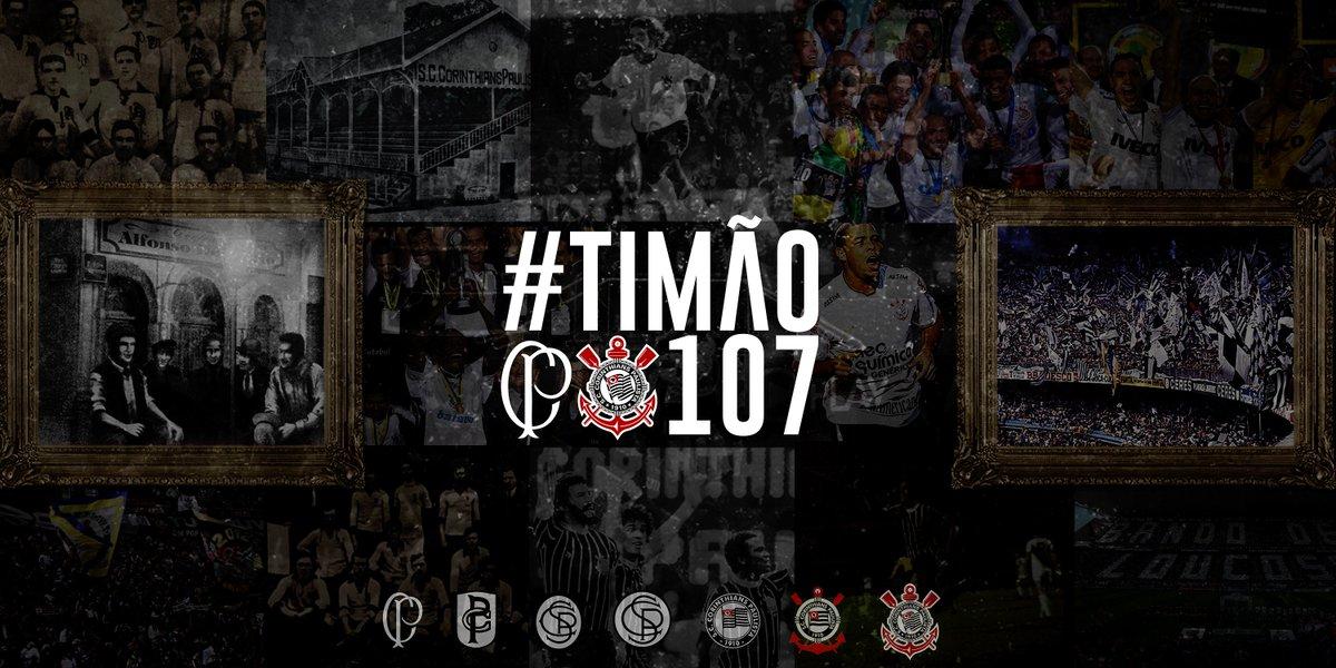 1º de setembro! Feliz aniversário, Corinthians! Feliz aniversário, Fiel!  #Timão107