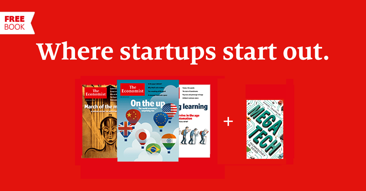 Stay ahead in your career with 12 weeks' access to The Economist. Subscribe today and receive a free book https://t.co/CbFfbSf1oU