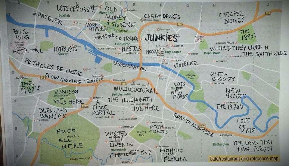 Kristyna Kabzanova on Twitter The only map of Glasgow youll ever