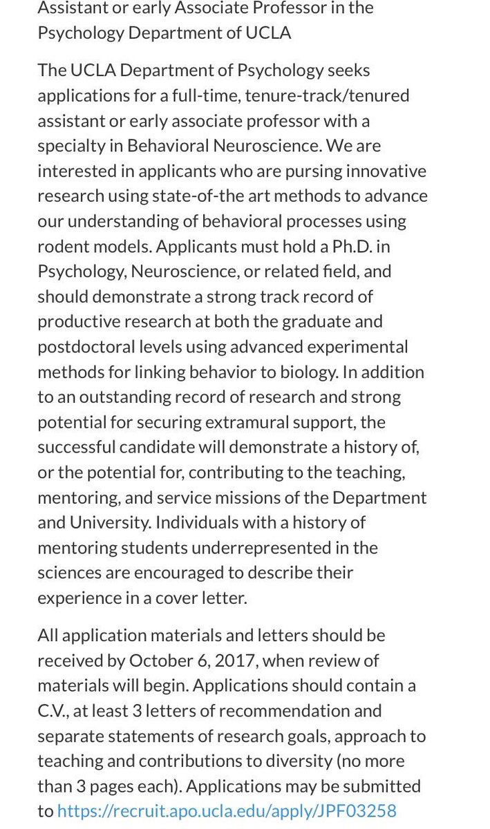 kate wassum on twitter ucla psych is recruiting a