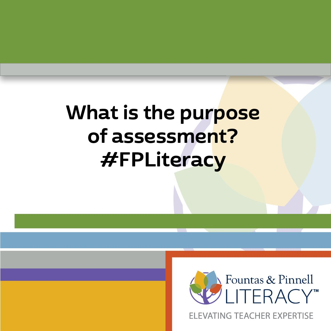 Thumbnail for Fountas & Pinnell - Twitter Chat on the Power and Purpose of Assessment