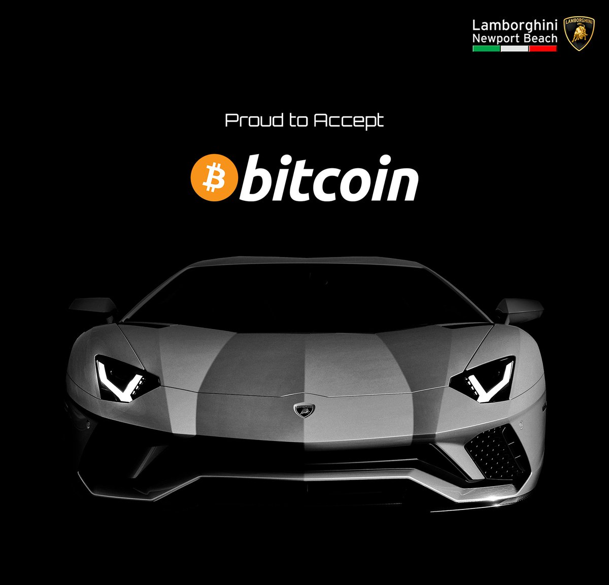Lambo Newport Beach On Twitter We Re Proud To Accept Bitcoin Via